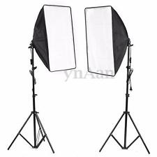 2x 500W Photo Video Studio E27 Lamp Softbox Light Stand Continuous Lighting Kit