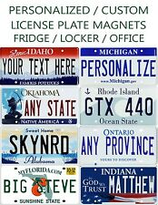 Custom Mini Licence Plate Fridge Magnets Any State or Province Any Text