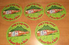 Lot Of 5 Vintage 1995 Budweiser Coasters Frogs