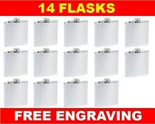 14 Personalized Flasks 6oz groomsmen usher best man bridesmaid engraved gift