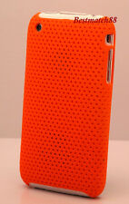 FOR IPHONE 3G  3GS ORANGE PERFORATED HARD BACK CASE COVER //