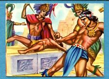 I GRANDI DELLA STORIA Figurina/Sticker n. 171 - COSTUMI POPOLO AZTECO -New