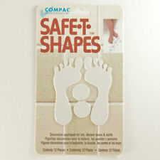 Safe-T-Shapes White Feet Non-Slip Safety Applique Stickers - Bath, Tub & Shower