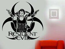 Resident Evil Game/Movie Character Alice Wall Art Sticker/Decal