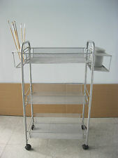 Artist Workstation Three-layer Studio Art Cart with brush holder& plastic cups