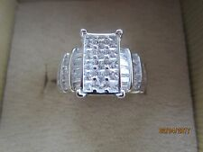 BELLA LUCE (R) RHODIUM PLATED STERLING SILVER  RING ~ SIZE 7