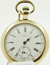 Vintage Omega 15 jewel Pocket Watch with chain for repair