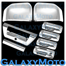 15-16 Ford F150 Chrome Mirror+4 Door handle+Plate+Tailgate+Camera Cover 2016