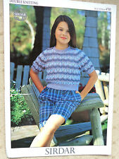 Sirdar Pattern for Girls Jumper in DK sizes 24 to 32""""
