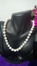 Elegante Bianco Barocco colto Collana di perle su una chiusura Argento Sterling