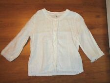 BOTTEGA ELISA CAVALETTI WHITE LINEN FLAX FRINGED WAIST SHIRT JACKET-S,8-UK