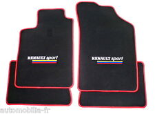 TAPIS RENAULT SPORT VELOURS - CONT. ROUGE POUR Renault Clio II RS