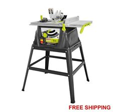 "15 Amp 10"" Portable Table Saw with Stand 24T Carbide Tipped Blade Hex Keys New"