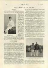 1898 Rival Captains Dr Grace Mr Glover Cricket W G Quaife Cycling In Europe