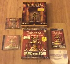 Unreal Tournament With Unreal Mission Pack 1, PC CD ROM Windows 95 Big Box