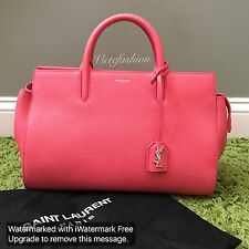 NWT $1990 YSL Saint Laurent Small Cabas Rive Gauche Satchel in Rose Clair