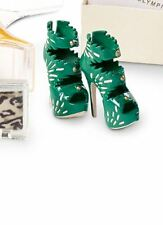 CHARLOTTE OLYMPIA BARBIE DOLL EMERALD GREEN  HIGH HEEL SHOES