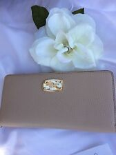 New Michael Kors Bisque Large Leather Travel Wallet