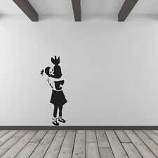 Banksy Girl Hugging Bomb Vinyl Wall Art Decal for Home Decor / Interior Desig...