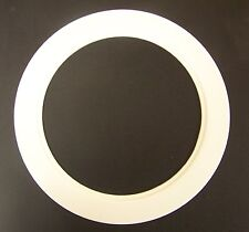 """Plastic White Light Trim Ring Recessed Can 6"""" Inch Oversized Lighting Fixture"""