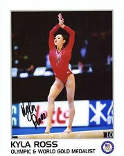KYLA ROSS HAND SIGNED 8x10 COLOR PHOTO+COA          OLYMPIC GOLD MEDAL GYMNAST