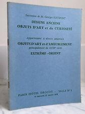 Catalogue de vente Dessins anciens Objets d'art .. Salle n°1  21 Janvier 1970
