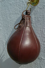 Fantastic vintage style brown leather boxing speedball punch bag speed ball