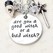 "Wizard Of Oz Necklace ""Are You A Good Witch Or A Bad Witch""  Pendant Halloween"