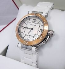 Cartier Pasha Seatimer W3140001 33mm 18K Rose Gold Bezel 3025 MSRP-6K *BRAND NEW