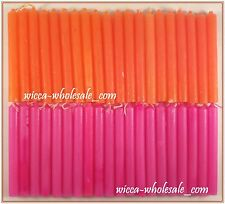 "Lot of Mini 4"" Chime Candles: 20 Pink, 20 Orange = 40 Total (Spell Altar Ritual)"