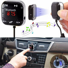 Kit Para Coche Inalámbrico Bluetooth transmisor FM MP3 Player USB SD LCD Mando