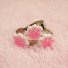 Pink Paw Cat Ring / Paw Ring, Kawaii Ring, Fairy Kei Ring,Pastel Goth Clothing