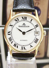 VINTAGE JAEGER LECOULTRE SOLID 18K GOLD AUTOMATIC CAL 901 WATCH 5001.21 SERVICED