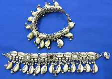 Belly Dance Kuchi Tribal Anklet Leg Jewelry Cowrie Oxodise Gypsy Sari Banjara