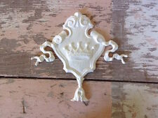 SHABBY n CHIC FURNITURE APPLIQUES * ARCHITECTURAL CROWN CREST * STAINABLE