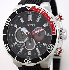 Massiver Citizen ECO-DRIVE Solar Taucheruhr-Chronograph - 20 BAR WR CA4250-03E