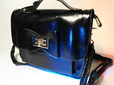 Ladies Evening Party Small Clutch Bag Wedding Purse Clip Clasp Handbag black bag