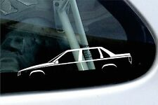 2x car silhouette stickers - For Volvo S70, T5 R sedan
