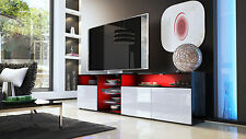 "Black High Gloss Modern TV Stand Unit Media Entertainment Center ""Granada V2"""