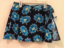 JANTZEN -  SWIM SUIT COVER UP SKIRT - S/M Blue Floral EUC