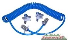 Blue Ox 4 Wire Tow Bar Coiled Electrical Cables RV Camper Towing Trailer BX8861