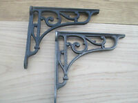 Cast Iron Victorian Style Scroll Shelf Support Book Sink Toilet Cistern Bracket