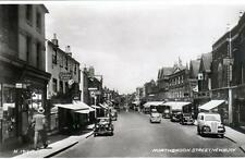 Newbury Northbrook Street Motor Car sepia RP old postcard used 1947 Valentines