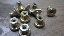 10 x 4BA THREAD BRASS KNURLED TERMINAL NUTS FOR TERMINAL SCREW RADIO ELECTRIC