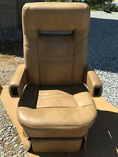 Flexsteel POWER RV Captain's Chairs tan motorhome coach seats Passenger 12v Elec