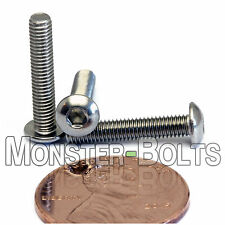 M3 x 16mm - Qty 10 - A2 Stainless Steel BUTTON HEAD Socket Cap Screws - ISO 7380