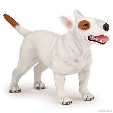 Bullterrier Bull Terrier weiss 9 cm Hunde und Katzen Papo 54027