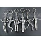 6pcs Disney Nightmare Before Christmas Jack Ghost PVC Figure Key Ring Chain