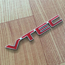 Sale Car Auto SUV Red Metal VTEC Letter Sticker Fender Decal Emblem For Toyota