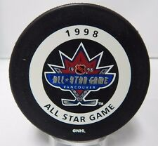 Official 1998 Vancouver NHL Hockey All Star Game Souvenir Puck In Glas Co